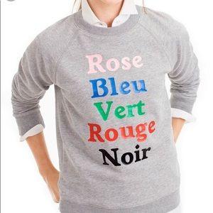 J. Crew French colors sweatshirt size xs